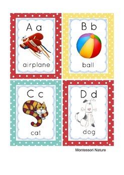 ABC CARDS MONTESSORI TODDLER ESL EDUCATIONAL MATERIAL
