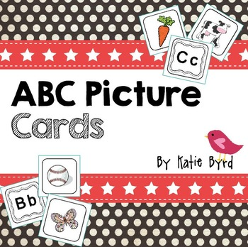 ABC Cards! Picture-Letter matching cards for learning