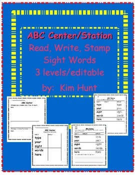 ABC Center Station Read Write Stamp Sight Words