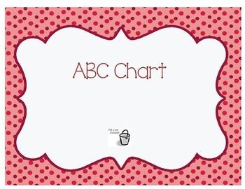 Freebie ABC Chart