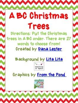 ABC Christmas Trees {27 Holiday words}