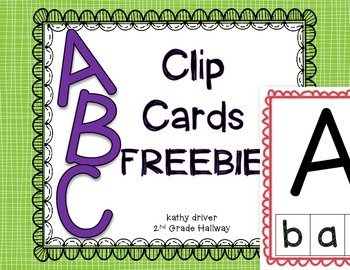 ABC Clip Cards FREEBIE