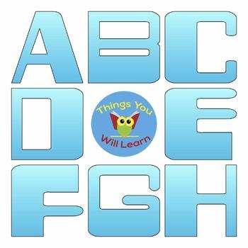 ABC Clipart Digital Sky Blue