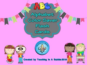 ABC Color Saver Student Flash Cards
