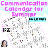 free Communication Calendar for AAC and Speech Therapy Sum