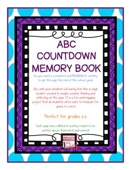ABC Countdown Memory Book! Perfect for End of the Year! An