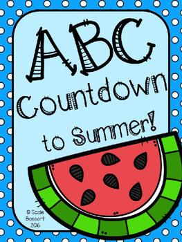 ABC Countdown to Summer EDITABLE