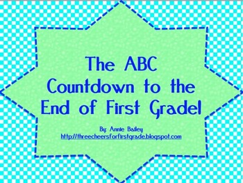 ABC Countdown to the End of First Grade