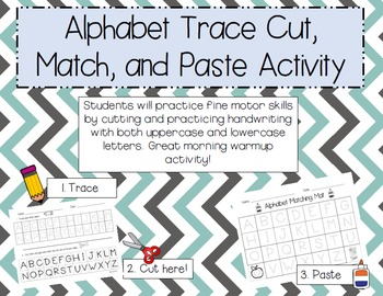 ABC Cut, Match, and Paste FREEBIE!