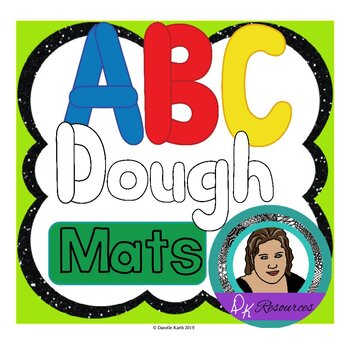 ABC Dough Mats for Practicing the Alphabet with Dough, Bla