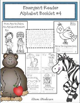 Alphabet Emergent Reader #4 From Ape to Zebra
