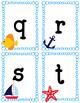 ABC Fashcards- Nautical. Boats. Fish. Anchor. Starfish. Up
