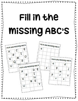 ABC Fill in {ABC order practice}