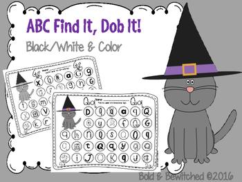 ABC Find It, Dob It Black Cat!