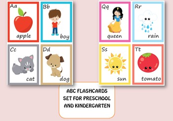 ABC Flashcards set/ Memory Game for Pre-k and Kindergarten