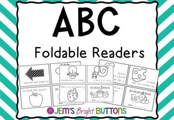 ABC Foldable Readers - one page readers - Victorian Modern