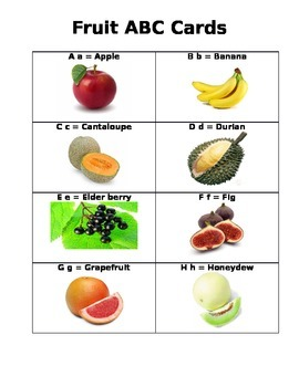 ABC Fruit Cards