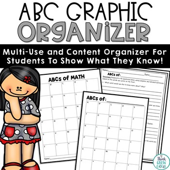 ABC Graphic Organizers Any Subjects
