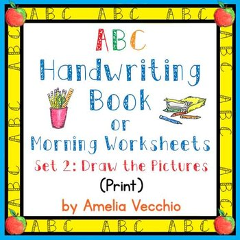 ABC Handwriting Book/Morning Worksheets Set 2 Print with C