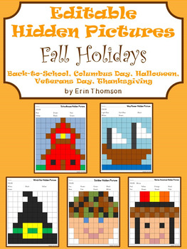 Editable Hidden Pictures ~ Fall Holidays {September, Octob