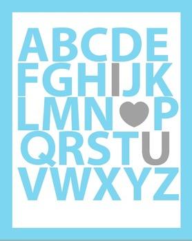 ABC I Love You Classroom Wall Print