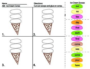 ABC Ice Cream Cones