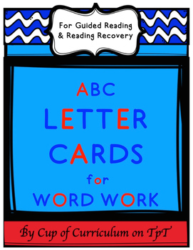 ABC LETTER CARDS for WORD WORK