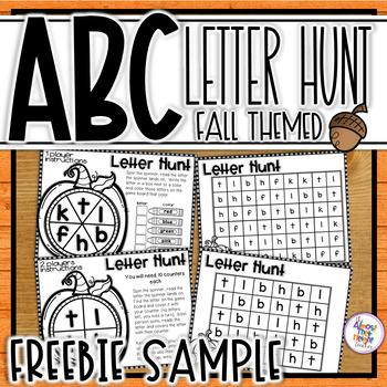 ABC Letter Hunts for Alphabet Letter Identification - Fall