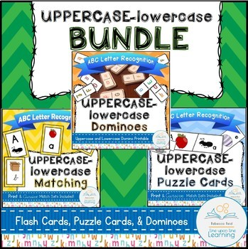 ABC Letter Recognition Games Uppercase to Lowercase BUNDLE