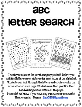 ABC Letter Search