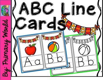 ABC Line-Classroom Display-orange yellow bunting design