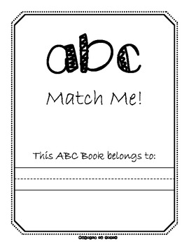 ABC Match Me - A Matching Booklet