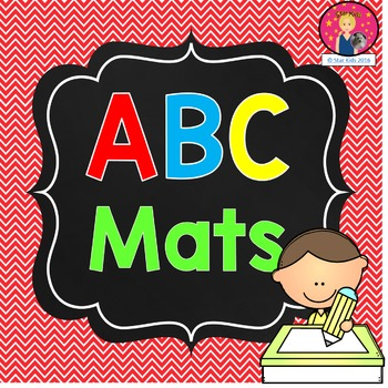 ABC Mats {English and Spanish PLUS Number Mats}