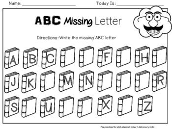 ABC Missing Letter