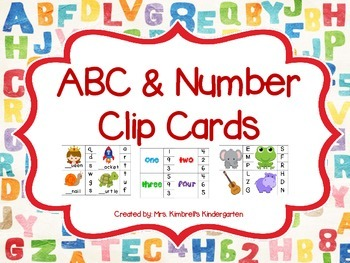 ABC & Number Clip Cards