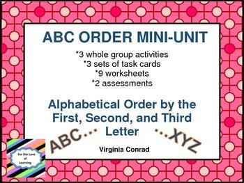 ABC ORDER MINI-UNIT