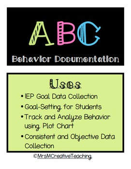 ABC Observation Form with Analysis Chart