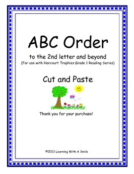 Harcourt Trophies FIRST GRADE Spelling ABC Order (2nd lett
