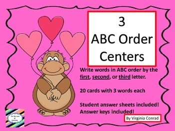 ABC Order Centers--by First, Second, or Third Letters---Va