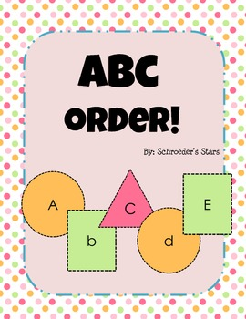 ABC Order, Cut and Paste Activity