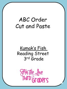 ABC Order Cut and Paste Kumak's Fish