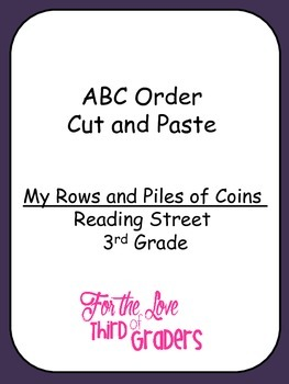 ABC Order Cut and Paste My Rows and Piles of Coins