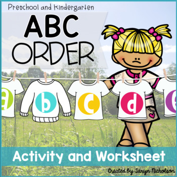 ABC Order Freebie