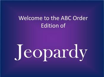ABC Order Jeopardy