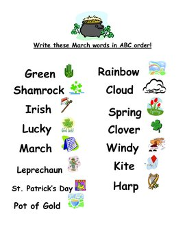 ABC Order March Words