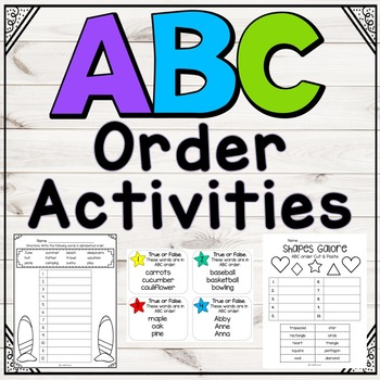 ABC Order Mega Pack: Activities for independent practice,
