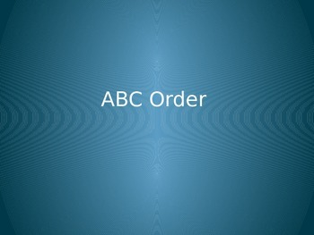 ABC Order Powerpoint