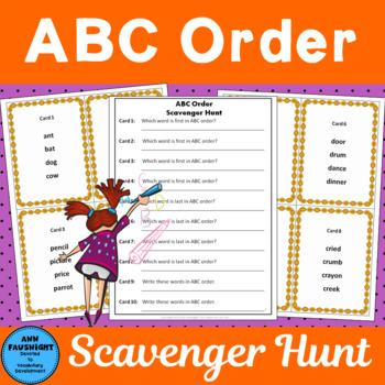 ABC Order Scavenger Hunt
