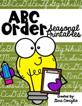 ABC Order Seasonal Printables