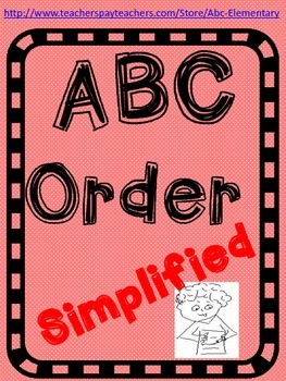 ABC Order (Simplified)